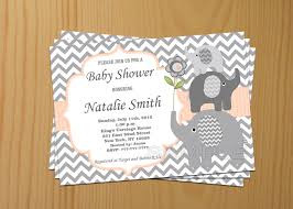 Babyshower Invitation Cards Baby Shower Invitations Elephant Theruntime Com