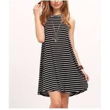 42 off dresses u0026 skirts black white striped t shirt swing shift