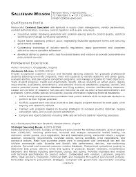 Inventory Specialist Resume Cover Letter Procurement Specialist Resume Procurement Specialist