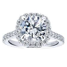 5 engagement ring 14k white gold halo engagement ring er12559w44jj
