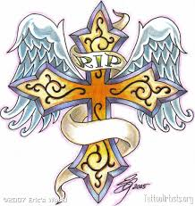 rip cross memorial tattoo design wolf tattoo pinterest