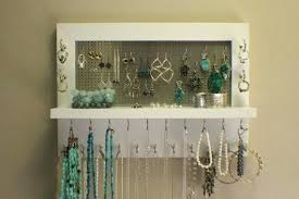 necklace organizer display images Hanging necklace holder wall hanging jewelry organizer 5 beautiful jpg