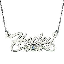 White Gold Name Necklace Personalized Women U0027s 10kt White Gold Script Name Necklace With