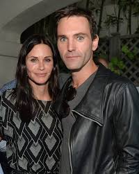 Actress Courteney Cox and songwriter Johnny McDaid attend Kevin Morris      Irish Independent