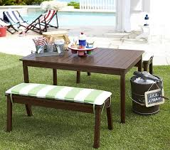 childrens bench and table set chesapeake table amp bench modern patio furniture and outdoor