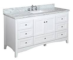 Shaker Bathroom Vanity Cabinets by Abbey 60 Inch Single Bathroom Vanity Carrara White Includes