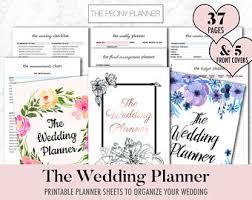 wedding planner pdf etsy