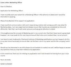 sales marketing cover letter