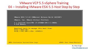 install windows 10 esxi 5 5 vmware vcp 5 5 04 installing vmware esxi 5 5 host step by step