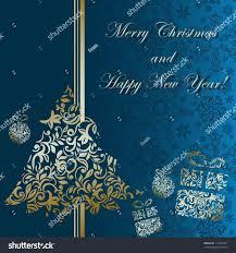 blue corporate christmas card designs ne wall
