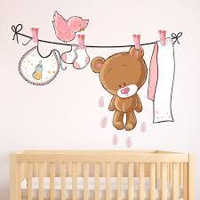 stickers chambre bébé nounours stickers muraux nounours pour bébé webstickersmuraux com