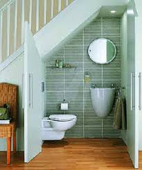 Small Bathroom Flooring Ideas by Bathroom Creative Tiny Bathroom Under Stairs As Space Saving
