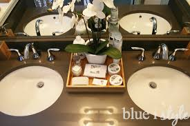 Bathroom Amenities Decorating With Style Honeymoon Inspired Guest Bath Blue I Style