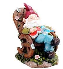 Gnome Garden Decor Amazon Com Welcome Gnome Outdoor Garden Solar Light Statue Patio