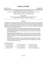 usa jobs federal resume example government template format job