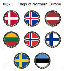 Europe Flags Flags Of North Europe Flags 6 Vector Royalty Free Cliparts