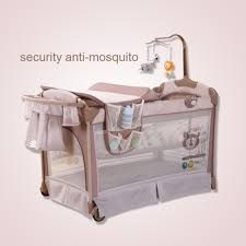 new born baby bed multi function folding crib playpen portable bed