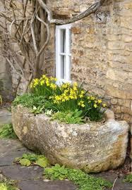 stone trough planter auge de pierre containers planters