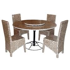 furniture round metal dining table capiz shell modern new 2017