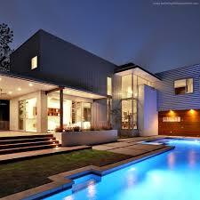 High Tech Home Wallpaper House Mansion Pool Modern Interior High Tech Yard