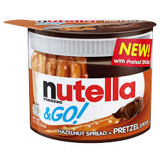Wholesale Pretzel Rods Amazon Com Nutella U0026 Go Pretzel 1 9 Oz 12 Count Grocery