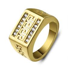 men golden rings images Large men ring in wedding bands from jewelry accessories on jpg