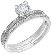 ring sets white gold diamond engagement ring set