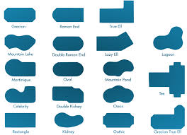 shapes of pools in ground pools wise pool spa in ground pools spas pool services