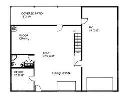 garage office plans 1st floor plan cabin workshop pinterest cabin