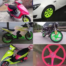 yellow spray electric motorcycle bicycle car wheel color change