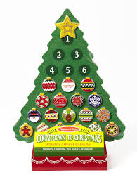 Christmas Decoration Images Amazon Com Melissa U0026 Doug Countdown To Christmas Wooden Advent