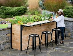 plant a bar an outdoor bar made with reclaimed wood that doubles