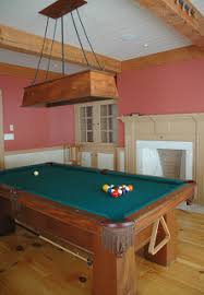 light over pool table dorset custom furniture a woodworkers photo journal hanging lights