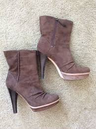 womens brown suede boots size 9 ugg brown suede high heels ankle boots size 9 uggaustralia