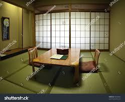 traditional japanese room fresh green tatami stock photo 52592401