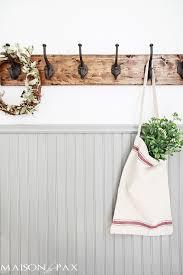 diy rustic towel rack maison de pax