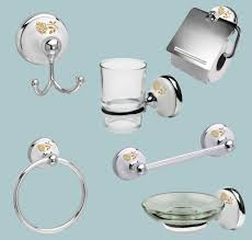 Porcelain Bathroom Accessories by White Porcelain And Chrome Bathroom Sets Polished Chrome Bathroom