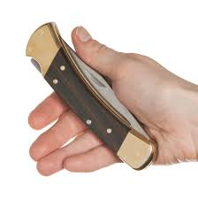 Buck Kitchen Knives by 110 Folding Hunter Pocket Knife Dymondwood Handle Lockback Made