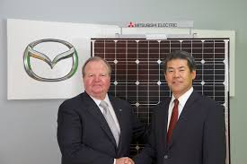 mazda north american operations mitsubishi electric solar modules power innovation at mazda u0027s u s