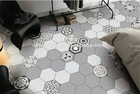decorative grey color hexagon ceramic skirting tile for wall