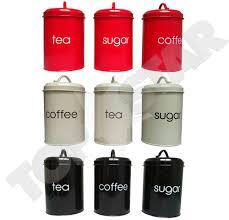 28 kitchen tea coffee sugar canisters 3pcs porcelain enamel