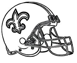 Baltimore Ravens Coloring Pages Helmet Football Saints New Football Coloring Page