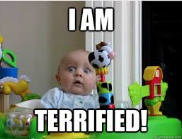Memes Scared - i am terrified scared baby quickmeme
