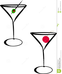 martini olive art martini glasses royalty free stock photo image 6090345