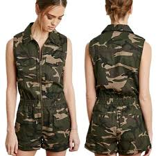 camouflage jumpsuit womens summer camouflage sleeveless bodycon jumpsuit onesies