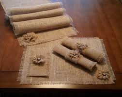 Shabby Chic Placemats by Burlap Shabby Chic Placemats In Natural With Handmade Button