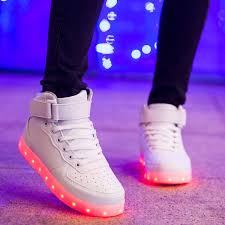light up shoes geek usb charging 7 colors womens casual led sneakers light up