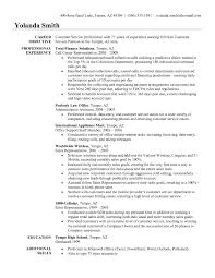 Example Of Resume Objective Resume by Resume Of A Customer Service Representative Resume Template And