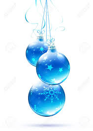 blue christmas vector illustration of cool blue christmas decorations royalty