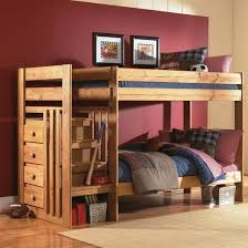 Simply Bunk Beds  Twin Over Twin Bunk Bed With Stairs And - Simply bunk beds